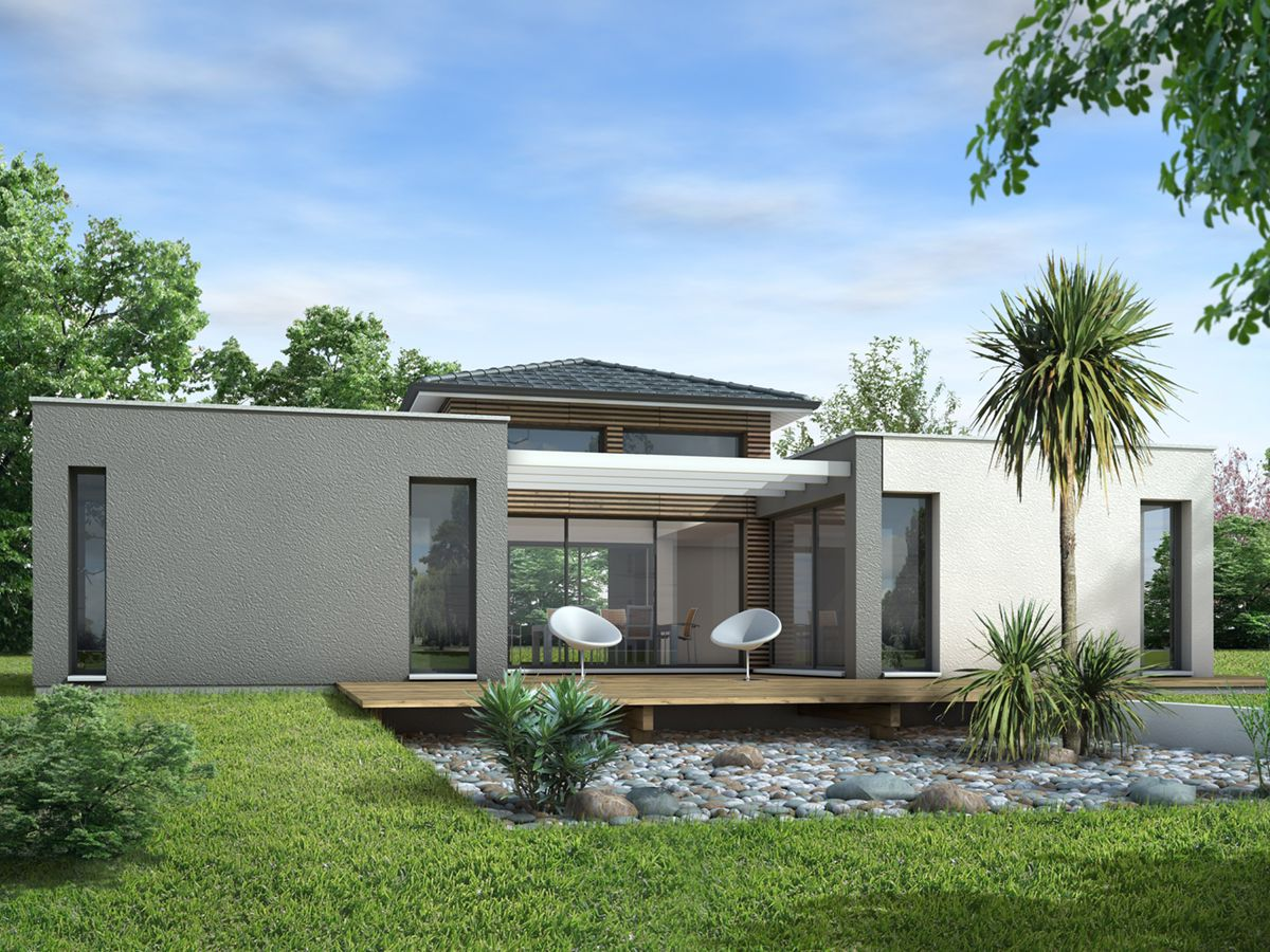 plan maison contemporaine 120m2