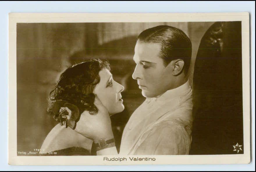 v105/ Rudolph Valentino schöne Ross Foto AK   eBay