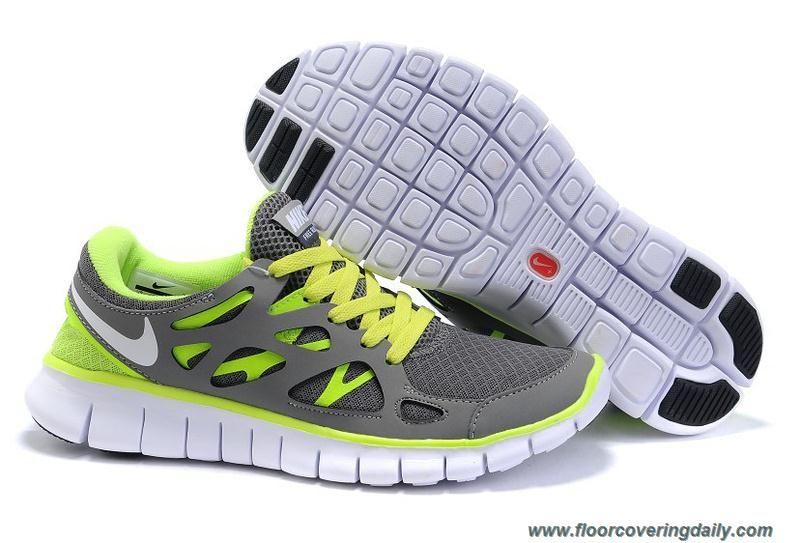 Nike Free Run 2 Mens Dark Grey Volt 443815-036 Online
