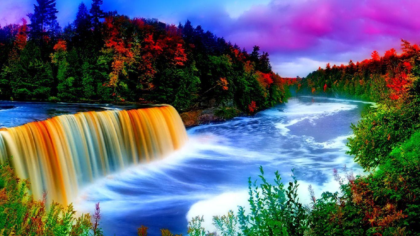 beautiful sceneries of waterfalls Google'da Ara RESİM