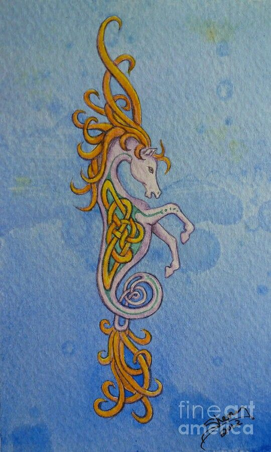 Celtic Seahorse Knots Pinterest Seahorses Tattoo And Celtic Art