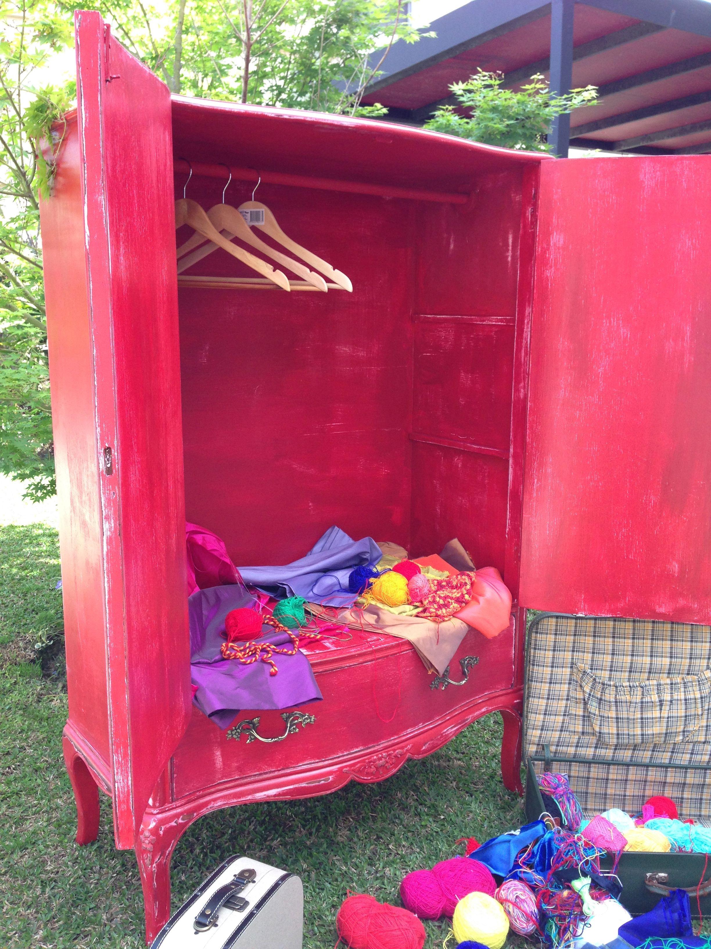 Mueble frances rojo decapado muebles vintouch de colores - Mueble provenzal frances ...