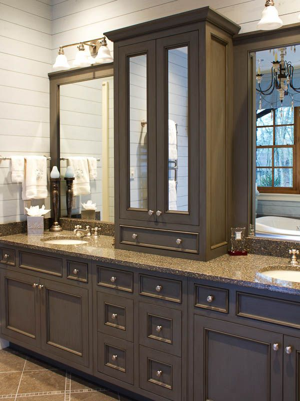 A cashiers american classic painted gray bath architect - American classic bathroom vanity ...