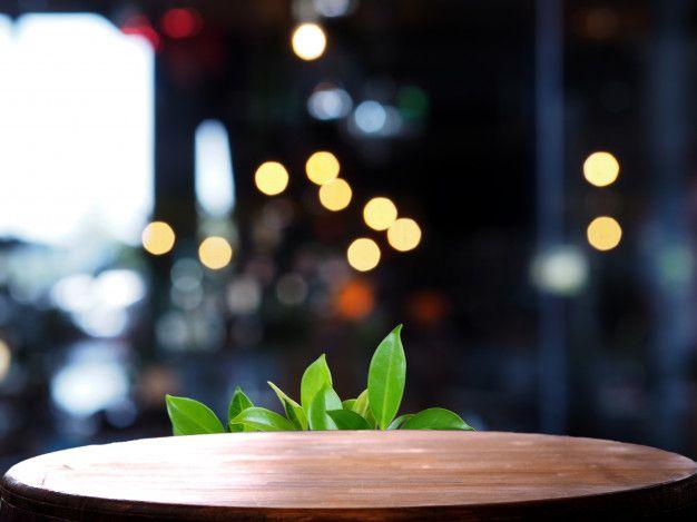 Empty Wooden Table Blur Light Coffee Shop Premium Photo Premium Photo Freepik Photo Food Background Wallpapers Blurred Lights Food Photography Background