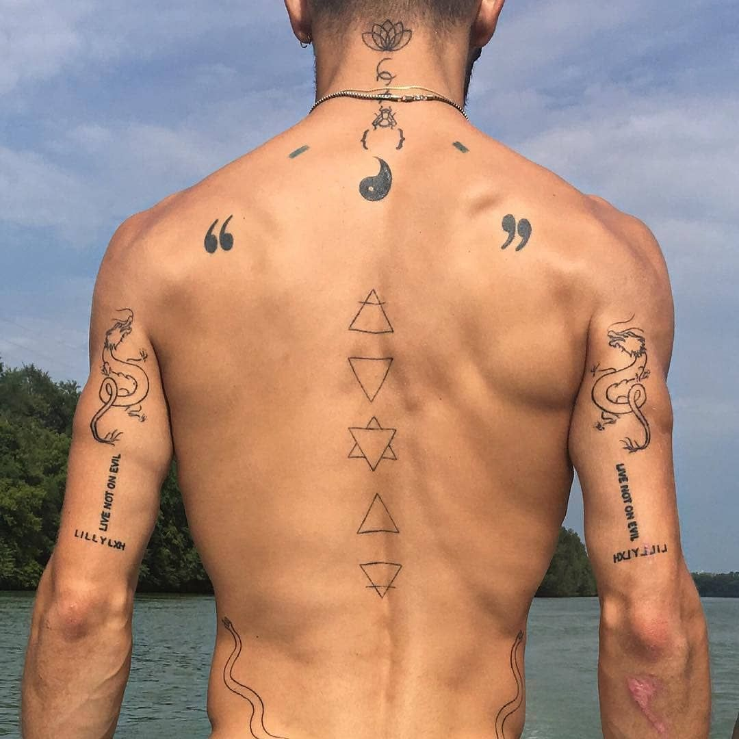 Tattoo Vision On Instagram Mirrored Mirror Tattoos Tricep Tattoos Small Chest Tattoos