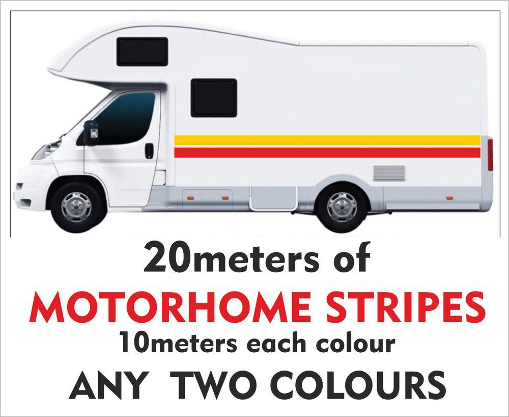 20meters Of Motorhome Vinyl Stripes Stickers Decals Camper Van