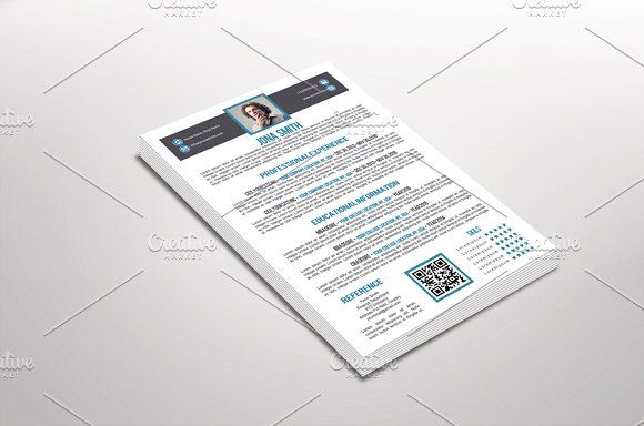 Paulo Resume Template By DuezaCom On Creativemarket  Beautiful