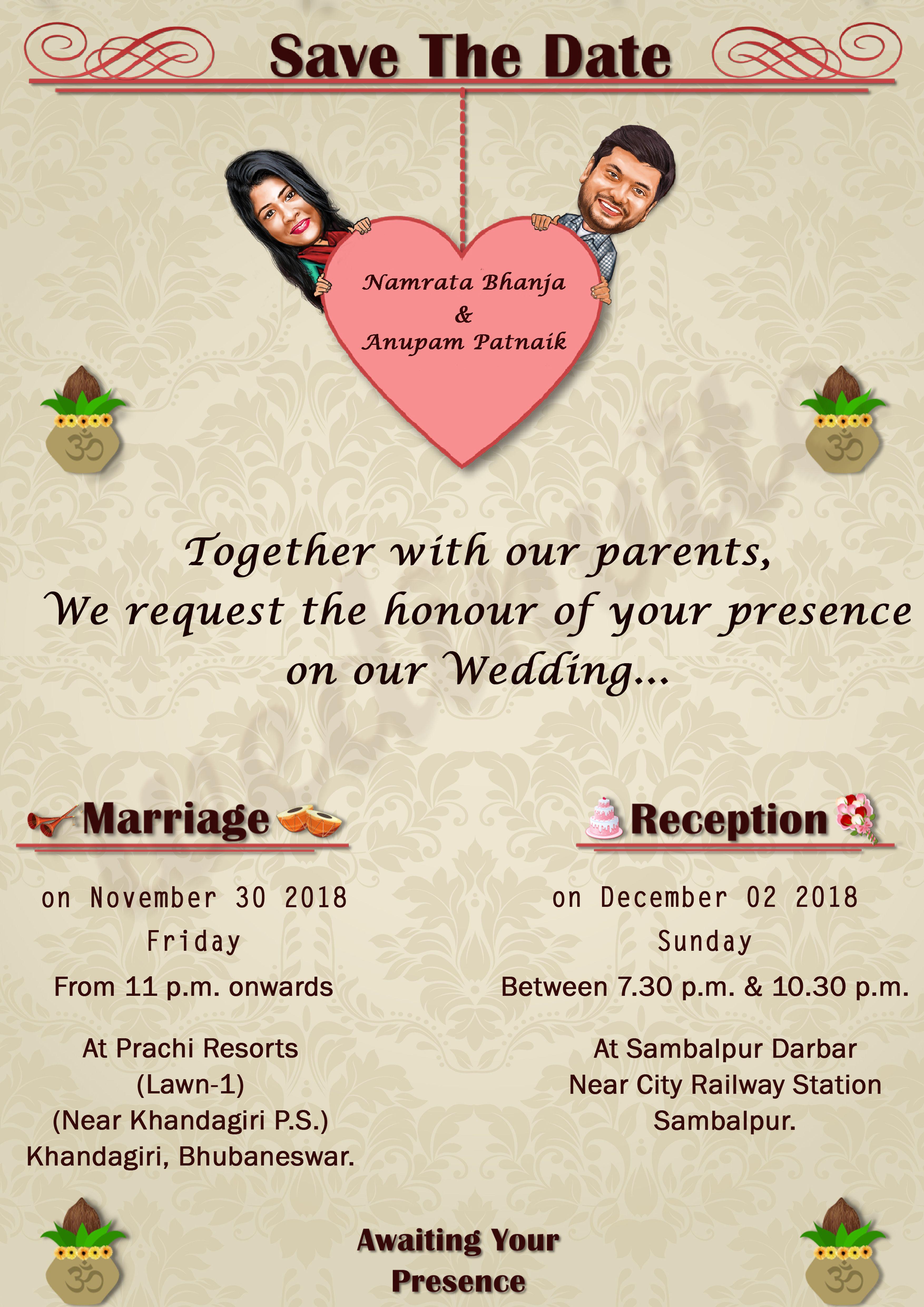 Final Reminder Illustrated Wedding Invitations Marriage Invitations Marriage Invitation Card