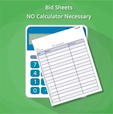 blank bid sheets
