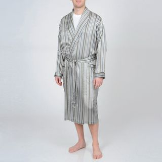 Majestic Sterling Men s Silk Robe - Overstock™ Shopping - Big Discounts on  Sterling Robes You may find yourself lounging all day in this comfortable c3d4083da