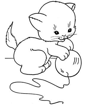 Ausmalbild Katzenbaby Spielt Mit Ball Ausmalbilder Katzen Ausmalbilder Wenn Du Mal Buch