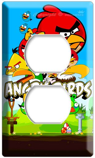 New Angry Birds Elecrical Outlet 2h Cover Wall Plate Kids Room Decor Poster