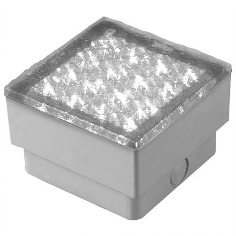 12V LED verlichting wit grondspot inbouw straatsteen vierkant 22 ...