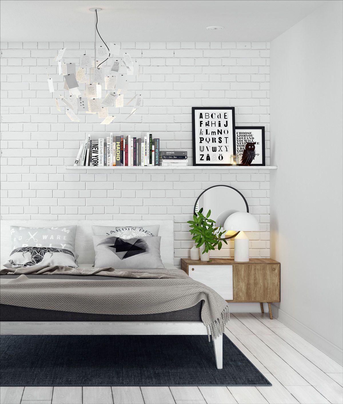 Via Homedesigning In 2020 Brick Interior Wall Brick Wall Bedroom Brick Interior