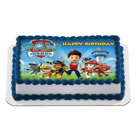 Quarter Sheet Edible Photo Birthday Cake Topper Personalized 1 4 At Walmart