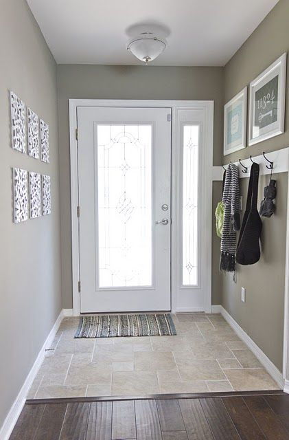 Dark Foyer Paint : Simple entryway i want a door with glass that lets