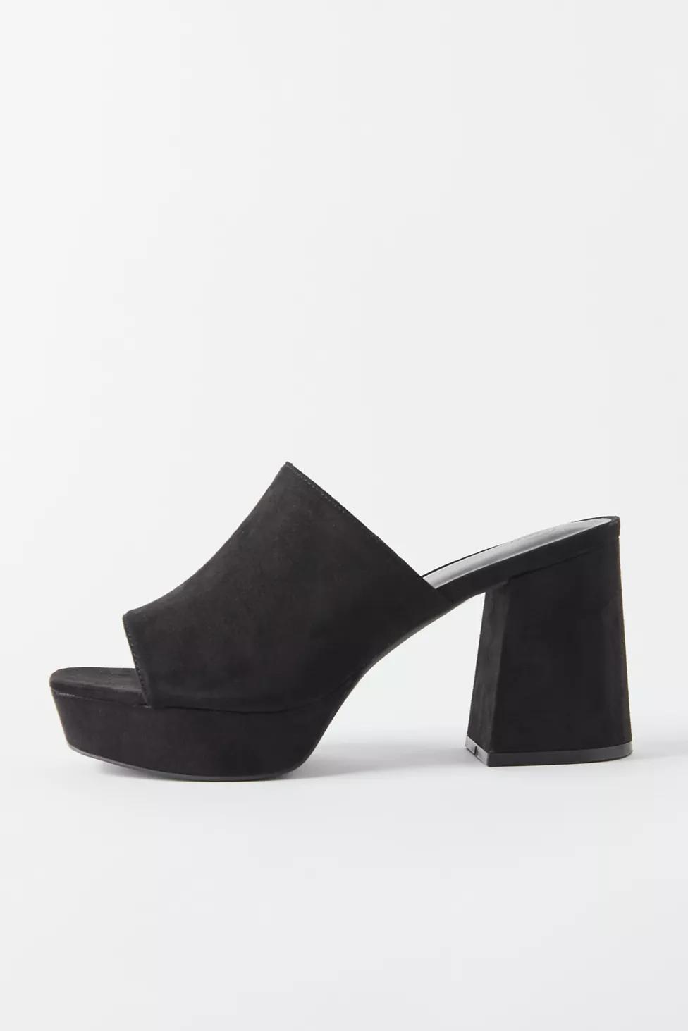 black platform mule