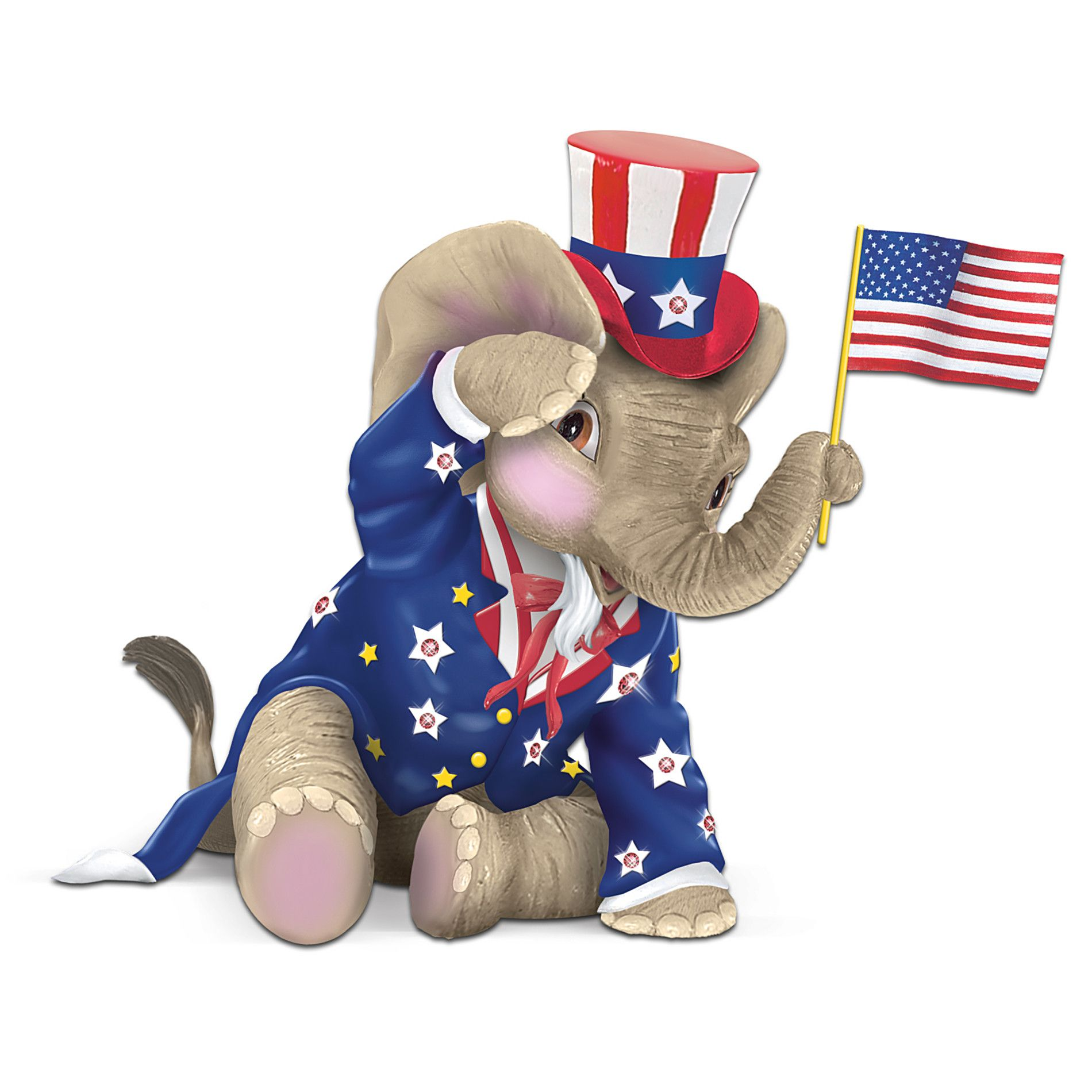 Sears Com Elephant Figurines Happy Elephant Republican Elephant