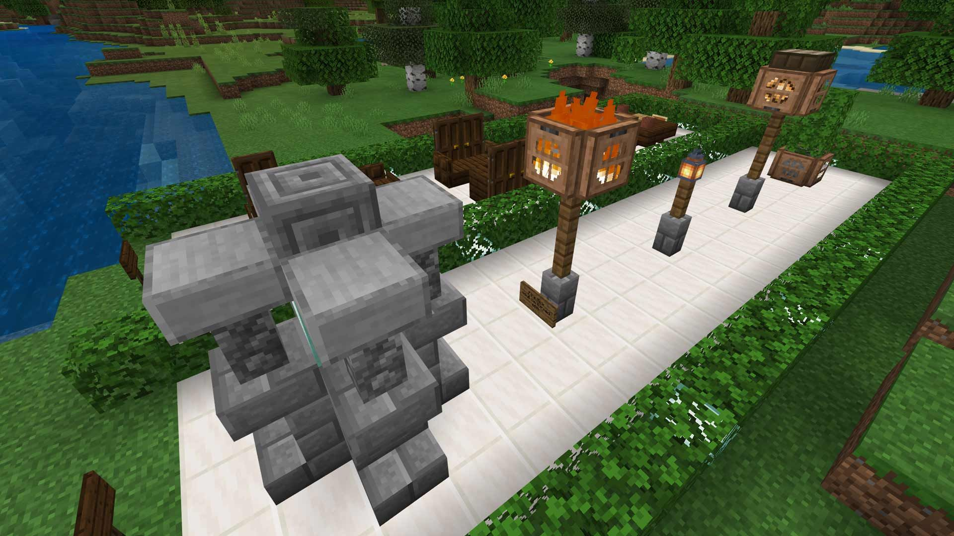 Minecraft Advanced Lamp Post Design Ideas And Guide For Easy Creation Of Neat Light Sources Light Brick Lamp Post Post Design