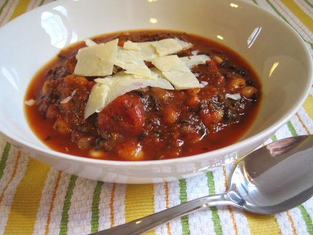 An easy, healthy Italian twist on traditional tomato soup. Slow Cooker Tuscan White Bean Soup.