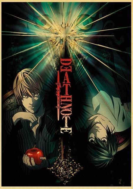 Photo of HD Classic Japanese Anime Death Note Family Wall Decoration Prints Wall Stickers – 21cmX30cmA4 No Frame / 1