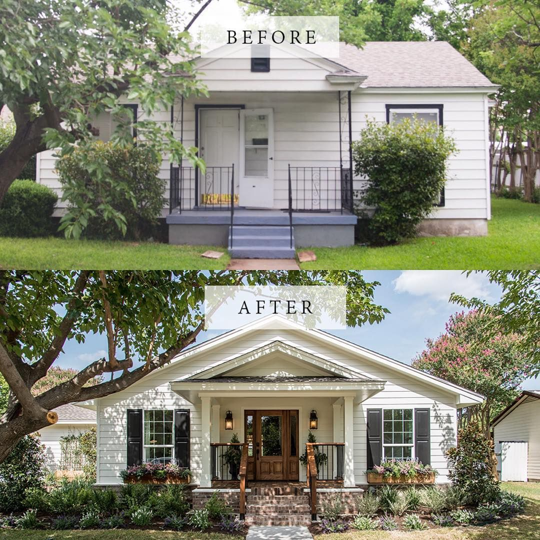 "Exterior Home Makeovers: How To Create ""Fixer Upper"" Farmhouse Modern Style"