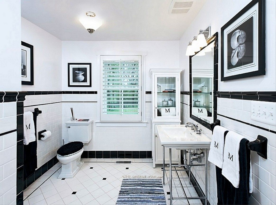stunning-design-home-floor-ideas-white-and-black-colors-tiles ...