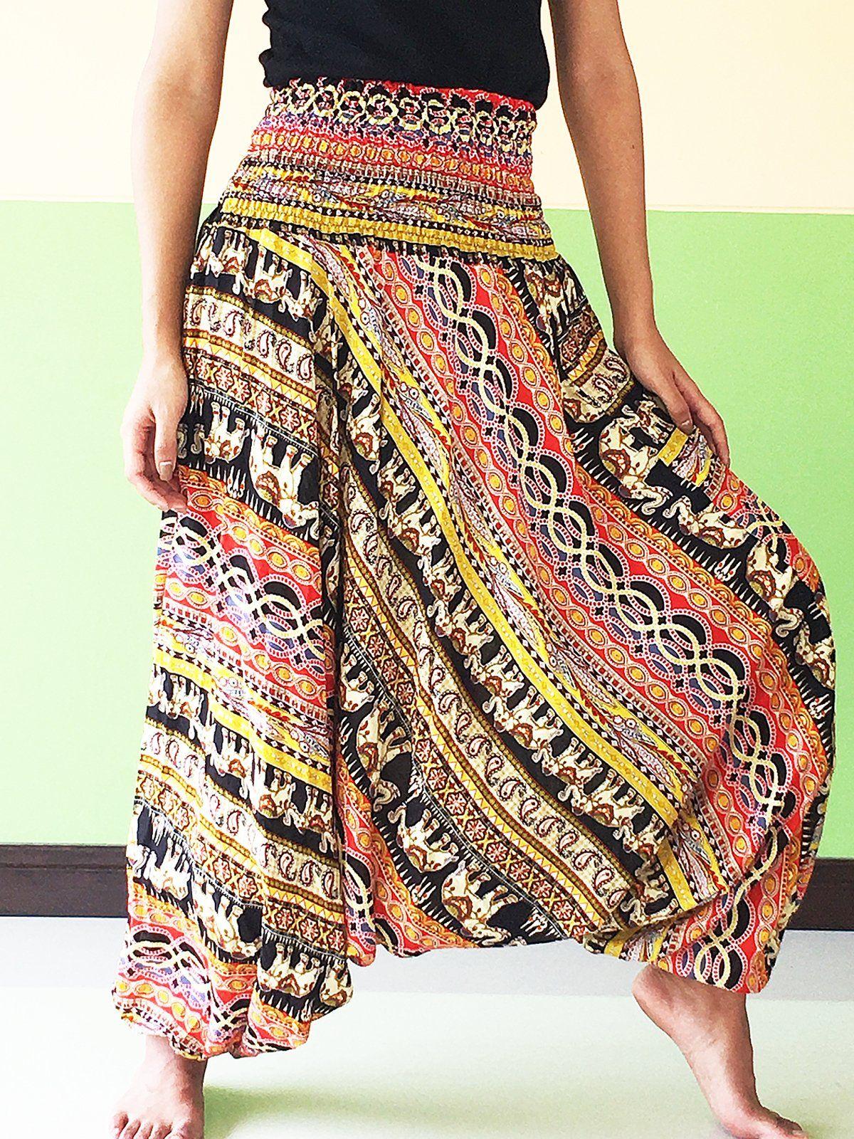 602aaad043ea Hippie Women Yoga Trousers black Harem cargo girls Pants