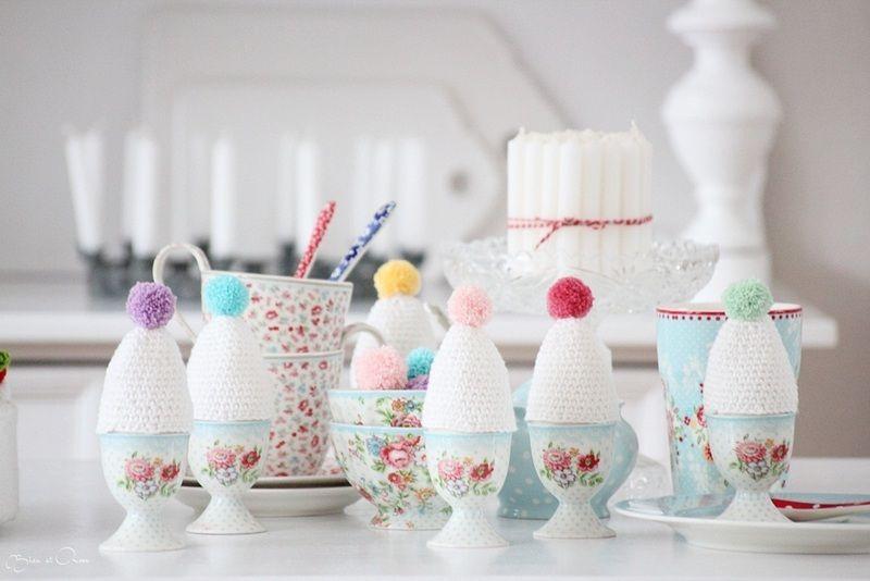 6er Set    Wunderschöne Eierwärmer,  aus Baumwolle.  Höhe 8 cm    *Wenn Du  gleich mehrere Artikel erwirbst, fallen nur einmal Versandkosten an!   ...