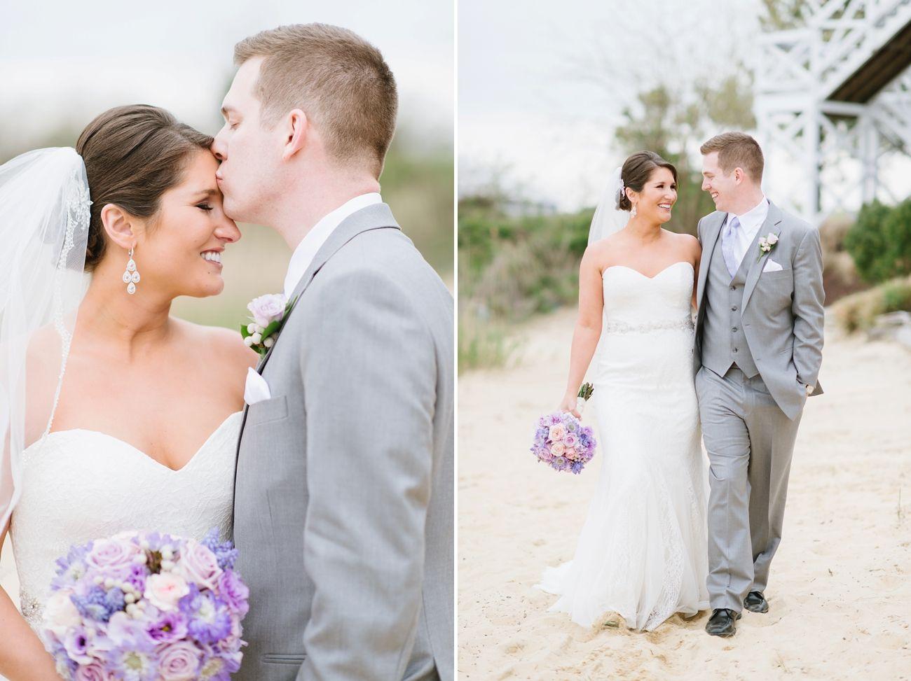 Chesapeake Bay Beach Club Wedding | Purple Spring Wedding Inspiration by Natalie Franke