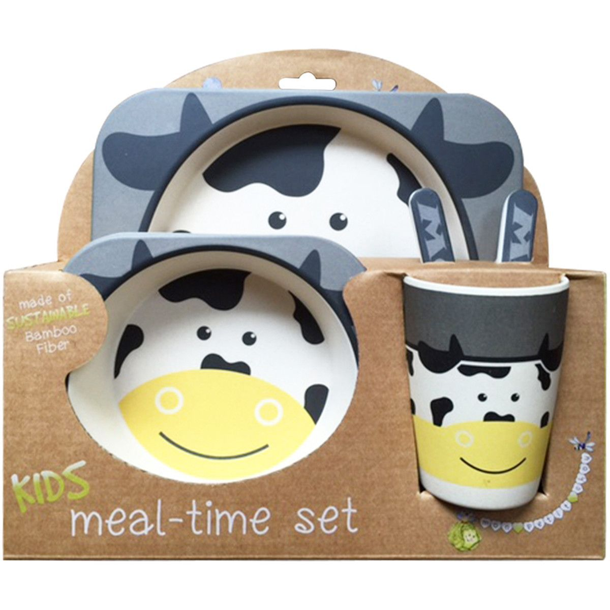 Bamboo Fiber Kids 5 Piece Dinnerware Set Kids Plates Kids Plates Set Plate Sets