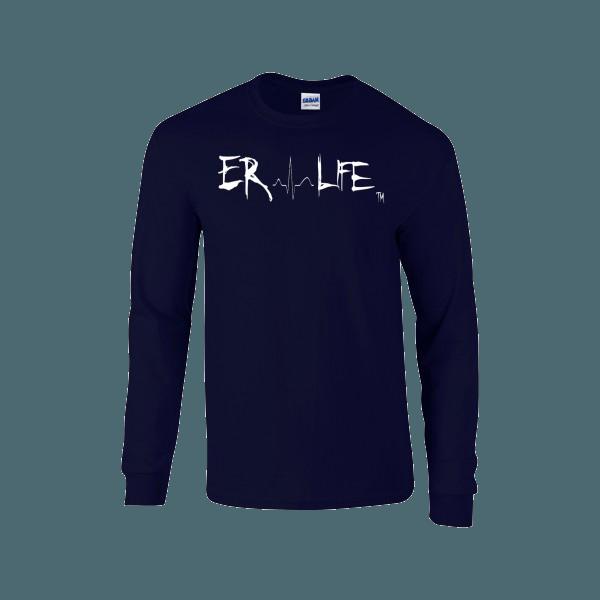 Er Life Women S Long Sleeve Navy Shirt Long Sleeve Custom Shirts Shirts