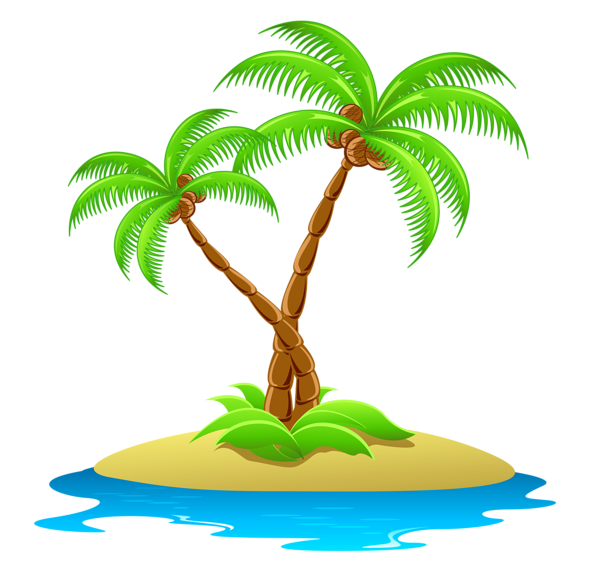 island with palm trees transparent clipart floral and swoshes rh pinterest co uk island clipart black and white island clip art black and white