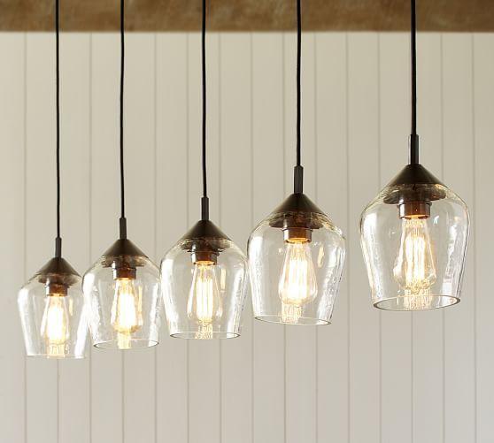 Pottery Barn Light Fixture: Donovan Glass 5-Light Pendant