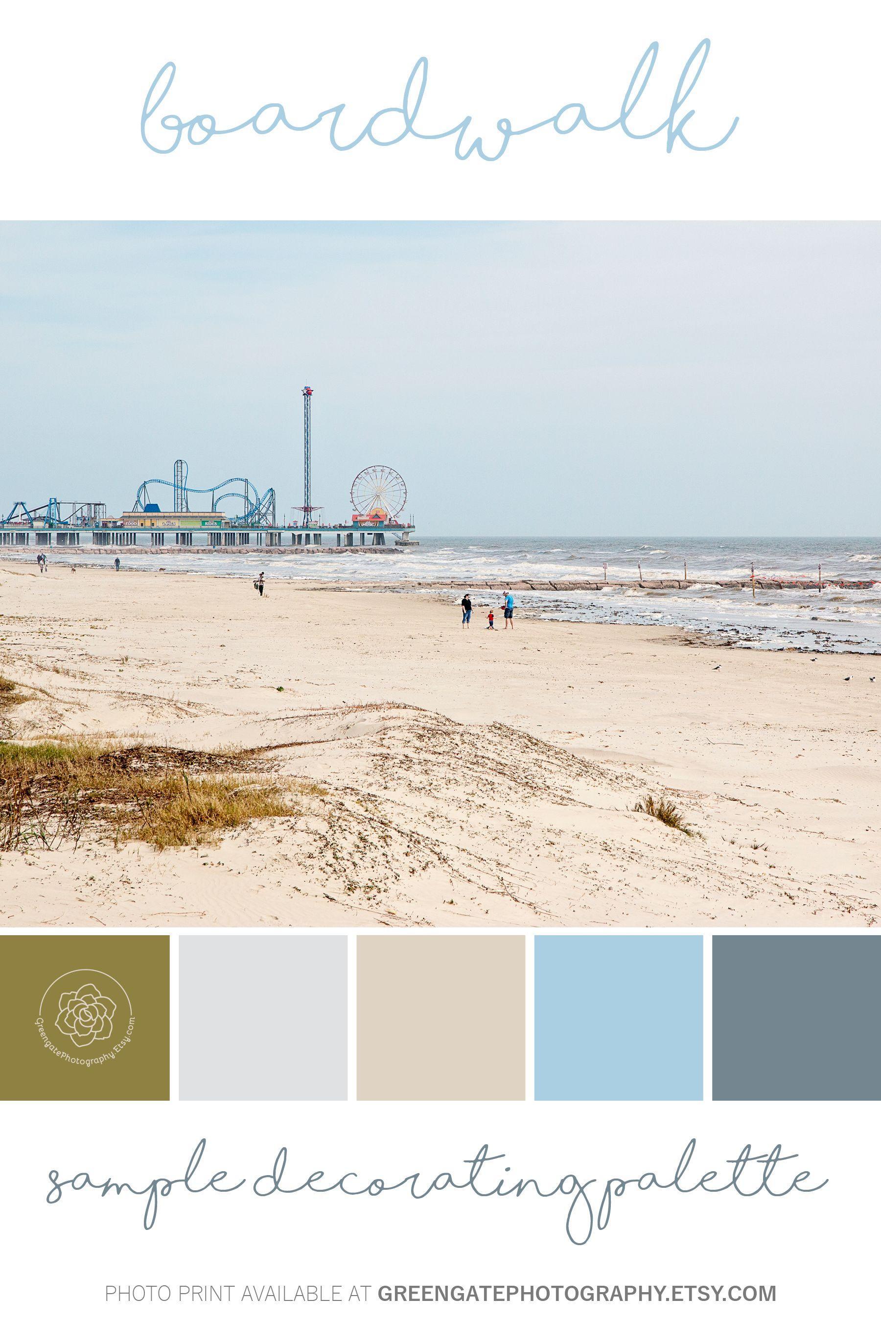 Boardwalk Photo Print Galveston Island Texas Gulf Of Mexico