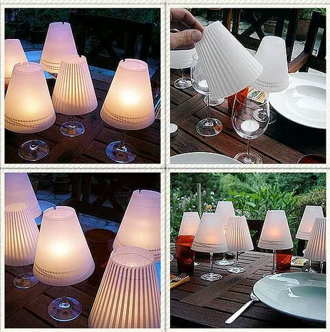 Lamp Shade Centrepiece Diy Wine Glass Wine Glass Candle Lamps Wine Glass Lamp
