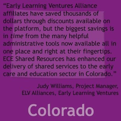 Elv Alliances Early Learning Ventures Colorado Early Learning Shared Services Alliance