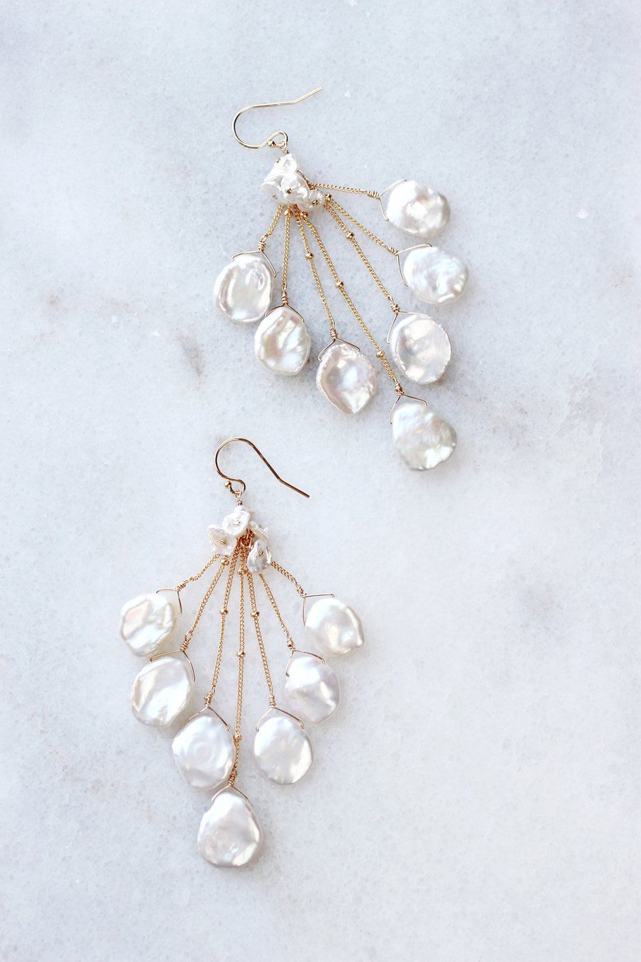 Christina Collection Pearl /& Crystal Vine Necklace /& Earrings