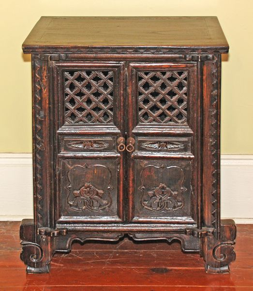 Antique Asian Furniture, from Shandong Province China, Small Antique Cabinet - Antique Asian Furniture, From Shandong Province China, Small Antique