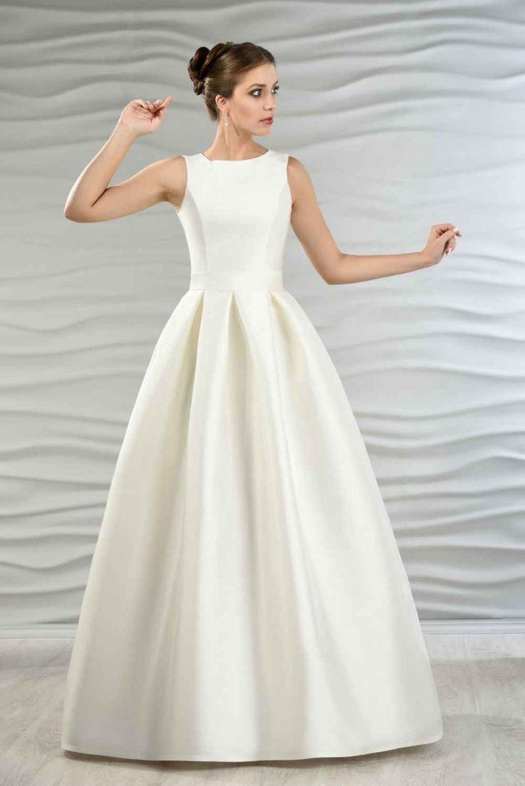 Satin Brautkleid mit Kellerfalten | wedding | Pinterest ...