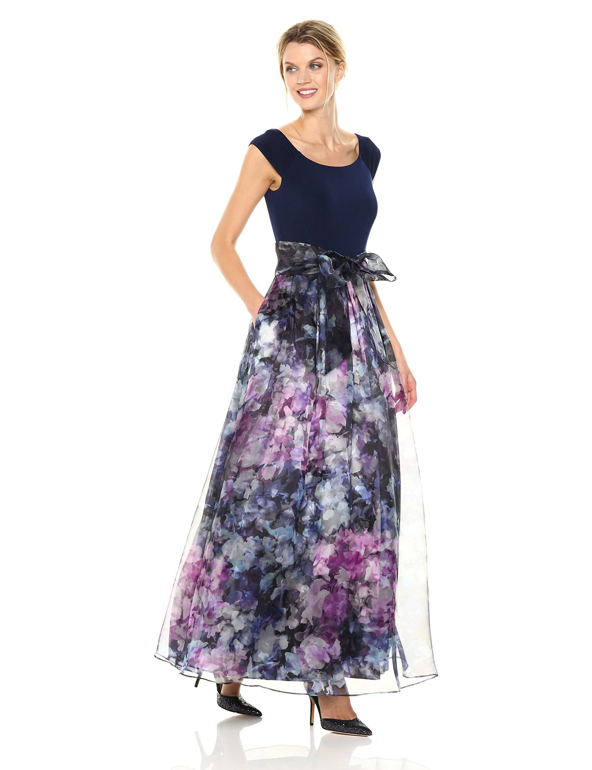 ae70de6f0d8c Eliza J Womens Ballgown with Floral Skirt Navy 4    Read more at the image  link-affiliate link.  womensformaldresses
