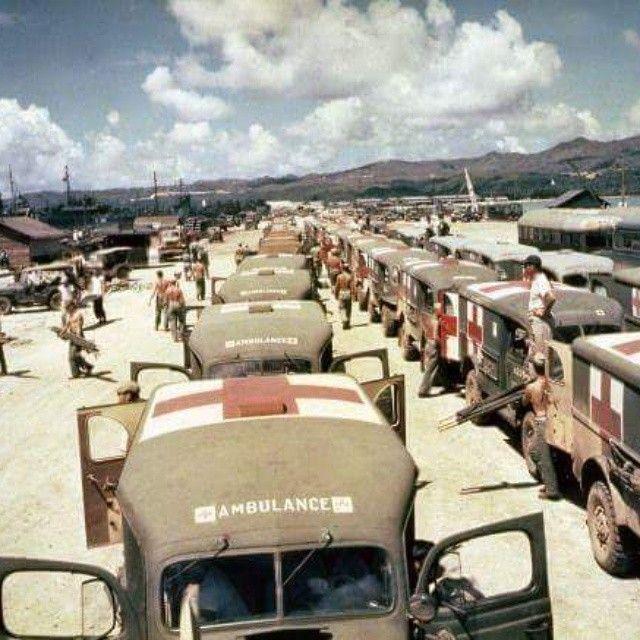Military ambulance lined up.#jeep #mdjuan