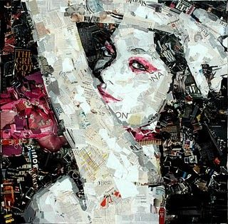 Collaged portrait by Derek Gores