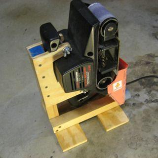 Fine Belt Sander Stand Woodworking Tools Homemade Tools Beatyapartments Chair Design Images Beatyapartmentscom