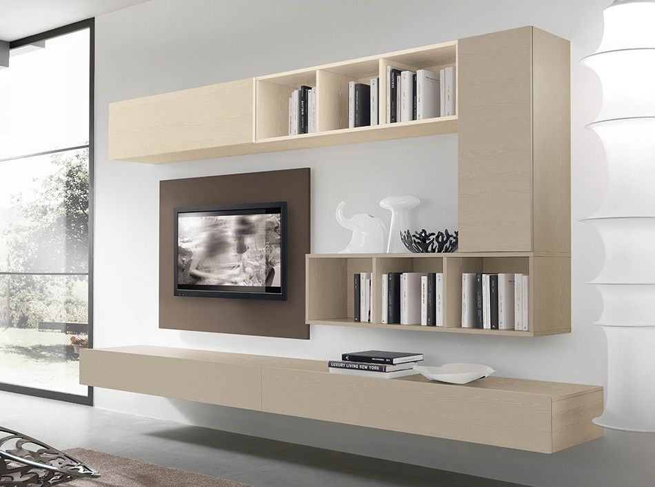 cool black and white tv wall units modular furniture small living room | Italian Wall Unit VV 3932 - $2,375.00 | Italian Wall Units ...