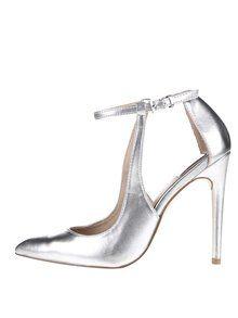 Obrázek Metalické sandálky ve stříbrné barvě na podpatku Miss Selfridge  Lilly 0f0e9945d85