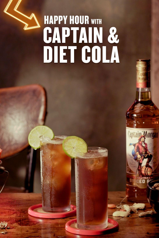 captain morgan and diet coke carbs