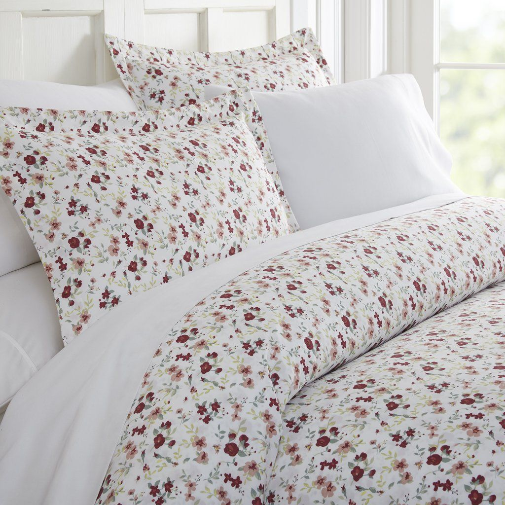 Blossoms Patterned 3 Piece Duvet Cover Set Duvet Cover Sets Luxury Duvet Covers Duvet Covers