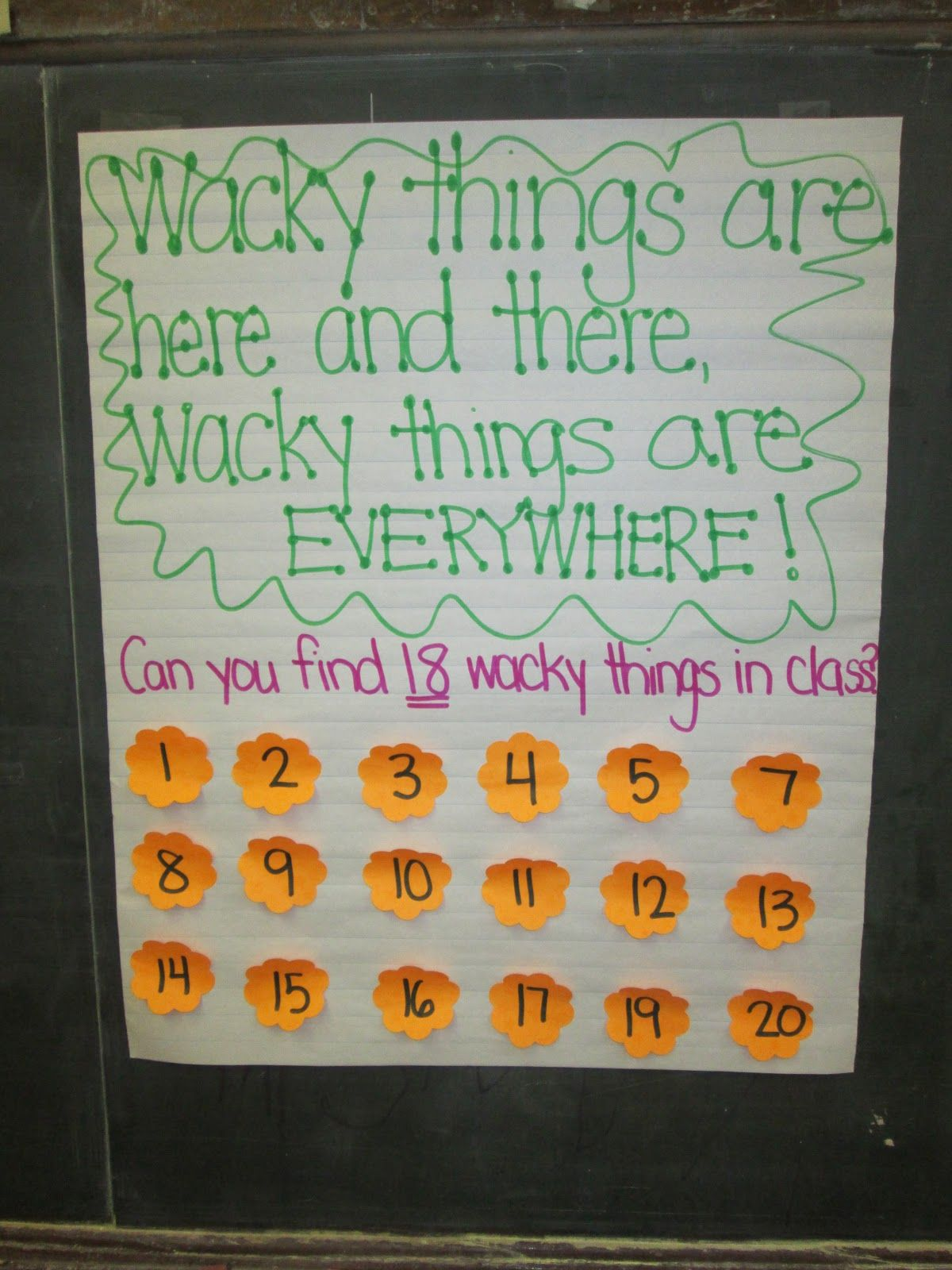Wacky Wednesday Dr Seuss Activity