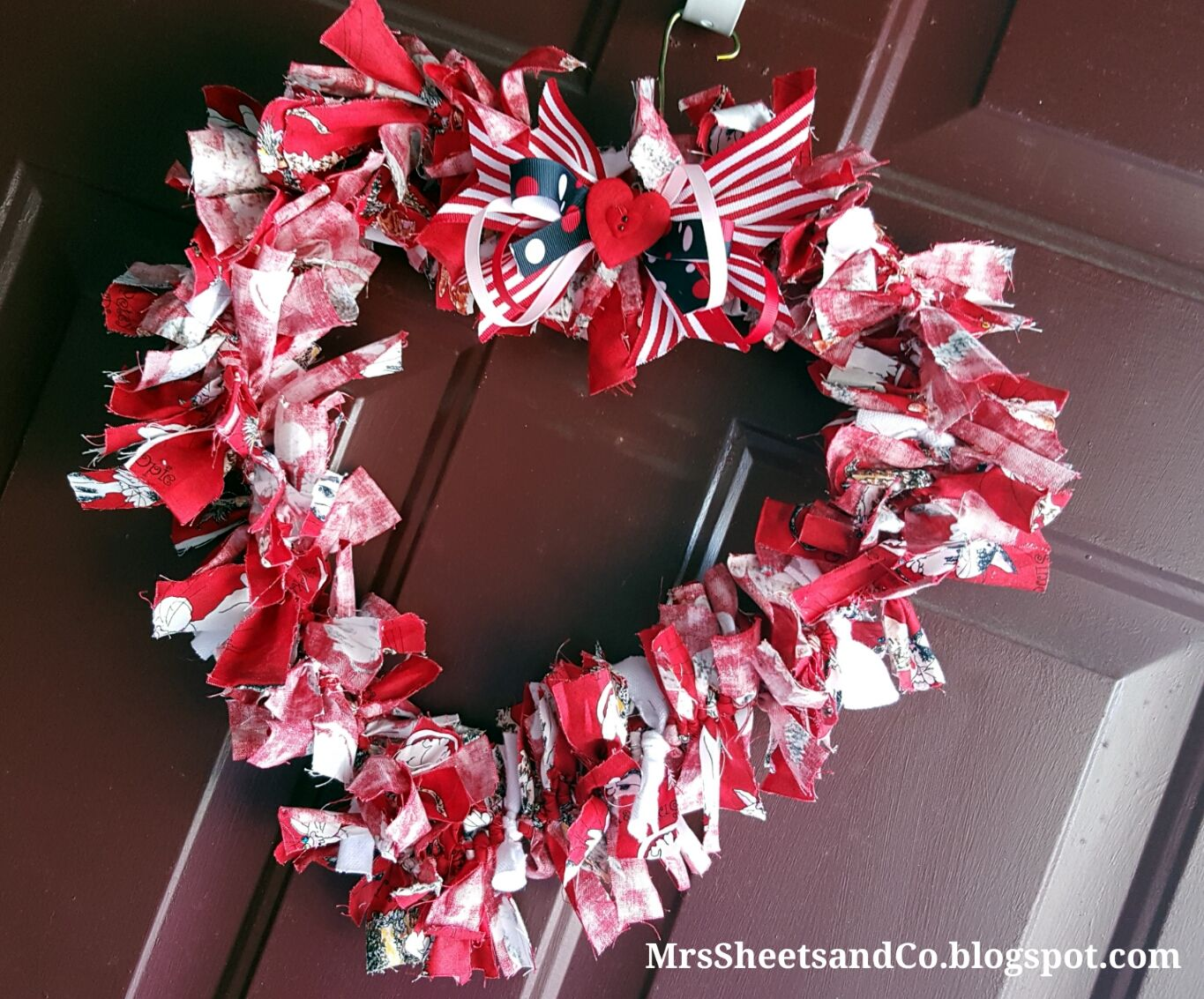 DIY: Fabric Heart Wreath: Perfect for Valentine's Day Mrs. Sheets & Co.